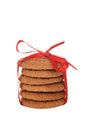 Isolated ginger snap cookies Royalty Free Stock Photo