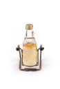 Isolated of glass bottle with alcohol on white the the background in a studio Stock Photography
