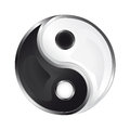 Isolated glossy yin and yang icon illustration Royalty Free Stock Images