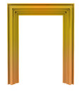 Isolated golden decorative door frame illustration Stock Photo