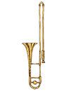 Isolated Golden Trombone Royalty Free Stock Photo