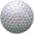 Isolated golf ball Stock Images