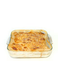 Isolated gratin on white background Royalty Free Stock Photo
