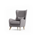 Isolated grey armchair isolated rendering of an Royalty Free Stock Images