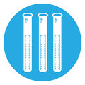 Isolated group of test tubes