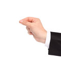 Isolated hand of a businessman holding an object Royalty Free Stock Photography