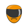 Isolated helmet of formula racing concept Royalty Free Stock Photo