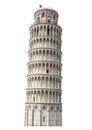 Isolated Hi Res Tower of Pisa Royalty Free Stock Photo