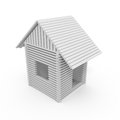 Isolated house d toy on white Royalty Free Stock Photography