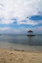 Isolated hut an in the philippine sea Stock Image
