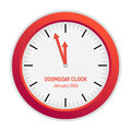 Isolated illustration of Doomsday clock (3 minutes to midnight)