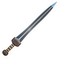 Isolated illustration of a Roman Gladius short sword Royalty Free Stock Photo