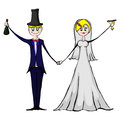 Isolated illustration of suitors