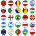 Isolated international flags Stock Photo