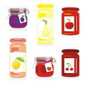 Isolated jam jars set Stock Image