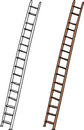 Isolated ladder aluminum and wooden ladders on white background Royalty Free Stock Image