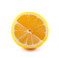 Isolated lemon over white background fruit object Royalty Free Stock Photography