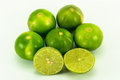Isolated lime fruits on the white background Royalty Free Stock Photo