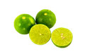Isolated lime fruits on the white background Royalty Free Stock Photography