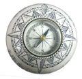 Isolated macro vintage decorative ceramic compass Royalty Free Stock Photo