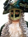 Isolated masquerade man Stock Photo