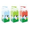 Isolated milk carton boxes Royalty Free Stock Photos