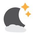 Isolated moon icon