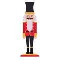 Isolated nutcracker of Christmas season design