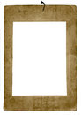 Isolated old damaged photo frame wasted in portrait format against white background Stock Photography