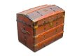 Isolated old trunk Royalty Free Stock Photos