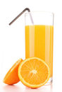 Isolated orange juice Royalty Free Stock Photos