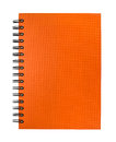 Isolated orange notebook on white background Stock Photography