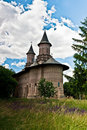 Isolated orthodox ancient romanian monastery Royalty Free Stock Photography