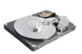 Isolated parsed hard disk drive on a white background Royalty Free Stock Image