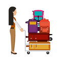 Isolated passenger and baggage design Royalty Free Stock Photo