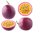 Isolated passion fruit collection