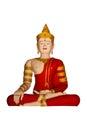 Isolated phra maha jakkraphat statue in wat chedi lung chiangmai thailand Royalty Free Stock Photo