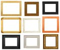 Isolated picture frames contemporary on a white background Royalty Free Stock Photo