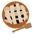 Isolated pie and spatula