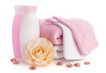 Isolated pink accessory for spa or sauna Royalty Free Stock Image