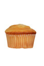 Isolated plain cupcake on a white background Royalty Free Stock Images