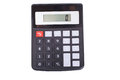 Isolated portable calculator with a 0 display Royalty Free Stock Photo