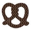 Isolated pretzel silhouette
