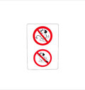 Isolated prohibit sign for dog toilet wc no waste from dogs Royalty Free Stock Photos