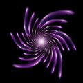 Isolated Purple Fractal Spiral