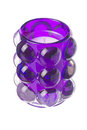 Isolated purple tealight candle Stock Image