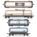 Isolated railroad oil tanks illustration see my other works in portfolio Stock Image