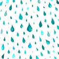 Isolated rain drops or steam shower,water falling pattern on blue background,cartoon style,nature vector