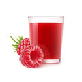 Isolated raspberry smoothie Royalty Free Stock Photo