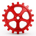 Isolated red gear Royalty Free Stock Photo